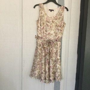 Brooks Brothers Silk Floral Print Fit &Flare Dress